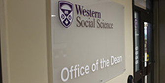 Office of the Dean Faculty of Social Science Western University