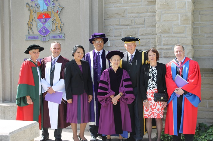 Janice Stein and Western University dignitaries at Convocation