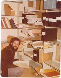 Economics Student doing research in 1970s