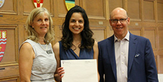 Winner of student award from Faculty of Social Science at Western University