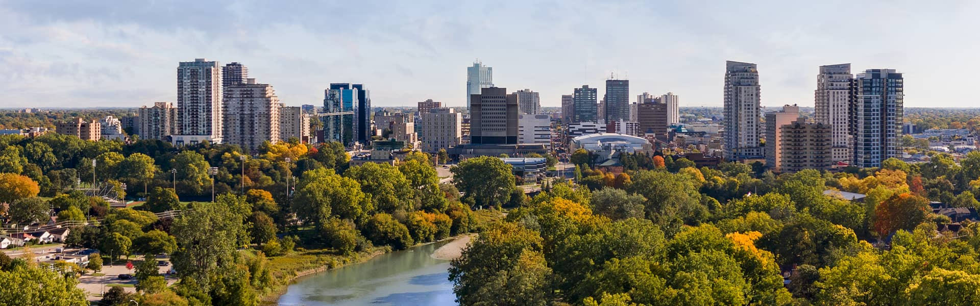 Landscape view of London, Ontario